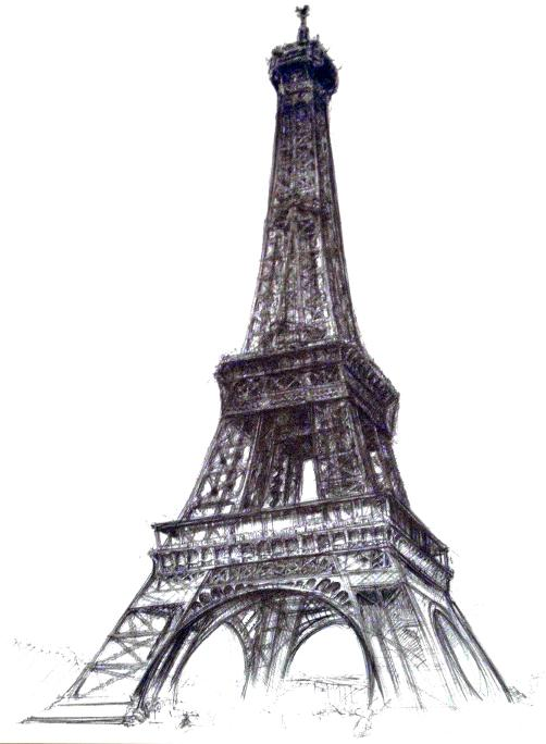 Eiffel tower drawing project i started this drawing at the base of the this is the work in eternal progress as it stands after 3 additional sessions thecheapjerseys Gallery