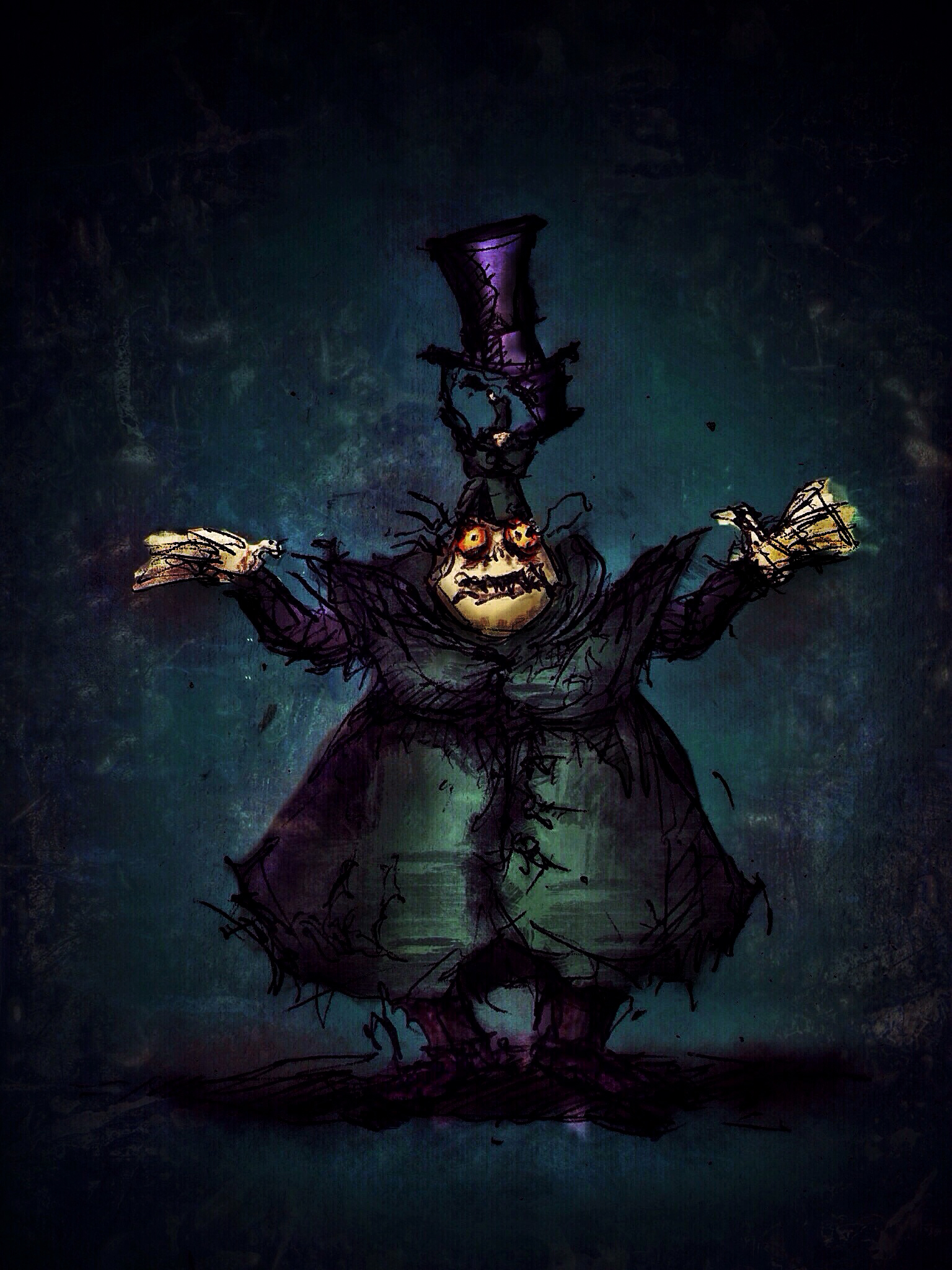 Theoretical Stage Production Of Tim Burton S The Nightmare Before Christmas Only seen in his hyde form, he keeps two smaller versions of himself underneath his hat. nightmare before christmas